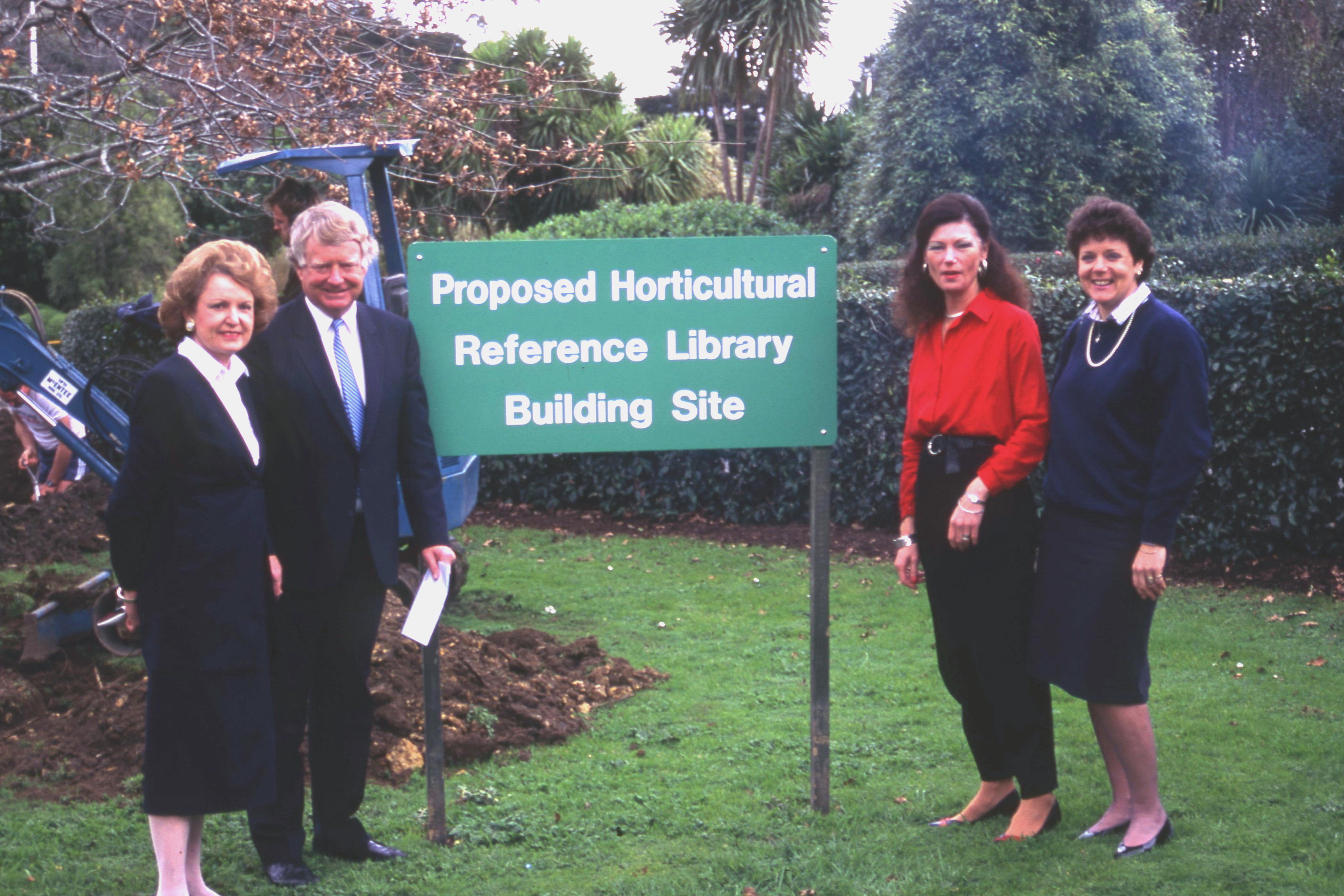 1991. Proposed site of Horticultural Reference Library.