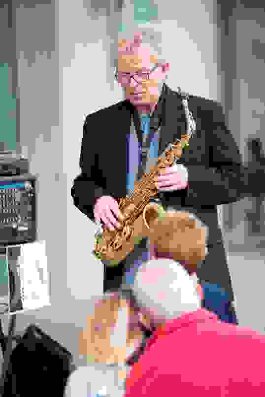 Saxophonist Bruce French